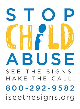 Stop Child Abuse Logo, English